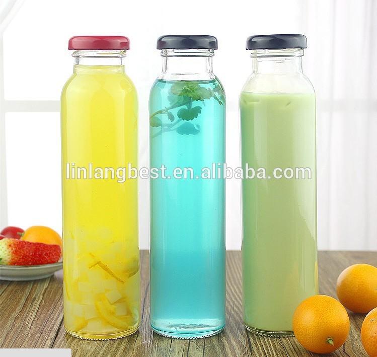 Custom Made cilindriska Cold Brews sula Tējas Dzeramais stikla pudele ar melns vāks Featured attēlu