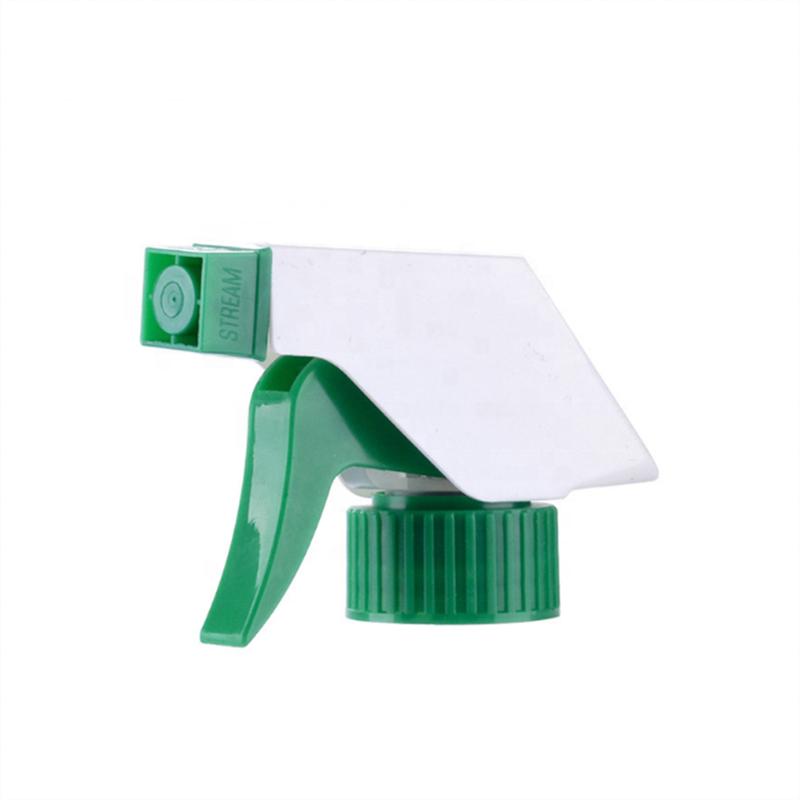 linlang shanghai high quality green white plastic trigger sprayer 28/400 28/410