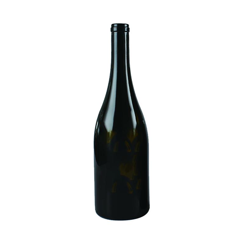 Shang hai linlang  750ml antique green premium heavy sparkling wine bottle champagne glass bottle