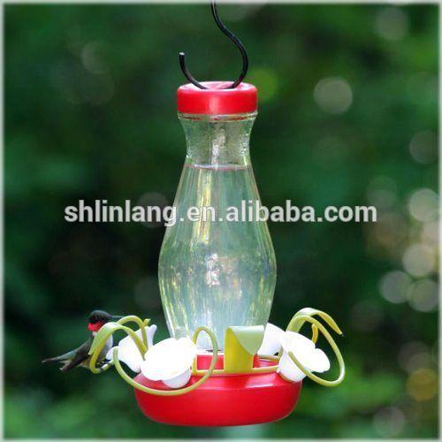 Repurposed vintage glass feeder hanging soda bottle glass hummingbird bird feeder window bird feeder
