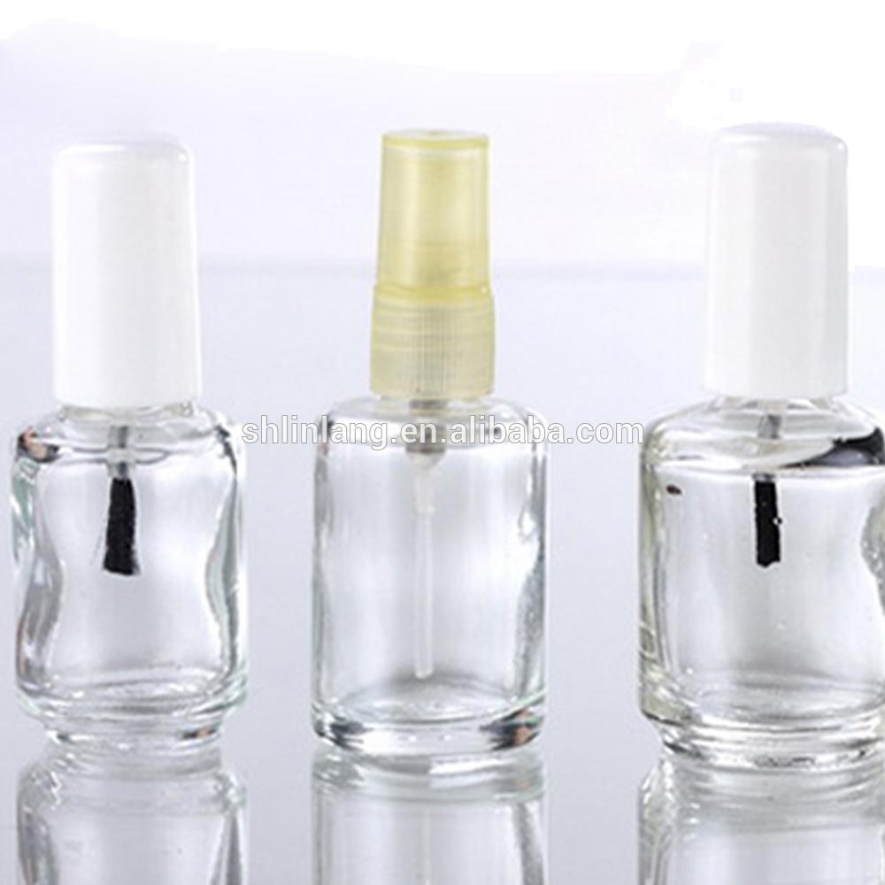 Clear Glass Empty Nail Polish Bottle