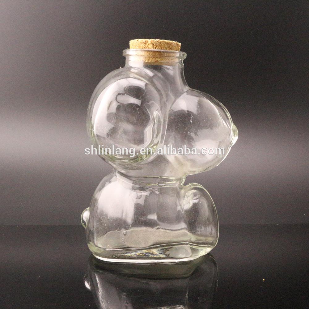 Cute Clear Dog Shape Decorative Vase