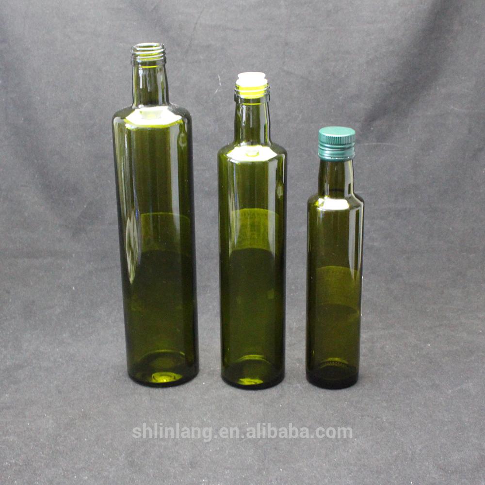 Shanghai linlang dark green Marasca and Dorica glass olive oil bottle