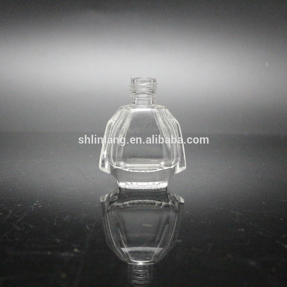 shanghai linlang empty UV gel glass nail polish bottle with brush cap