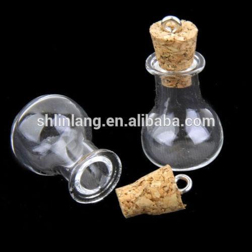 0.5 / 1/2/5 ml stikla flakons Mini Mazs korķa aizbāzni 10ml stikla flakons Burkas Konteineri pudele vairumtirdzniecība stikla flakons Kuloni
