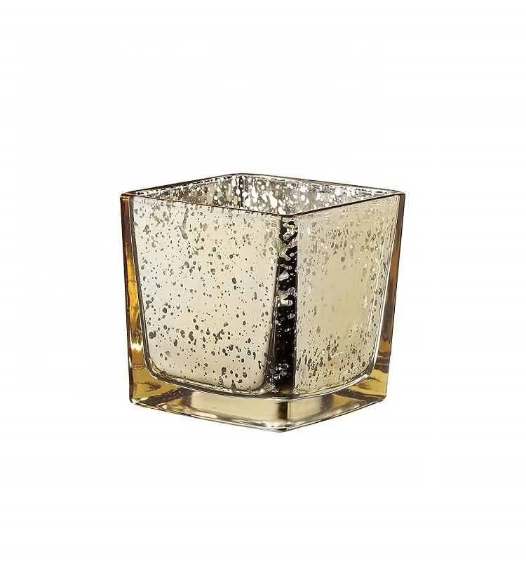 china 2018 linlang wholesale square glass candle holder gold mercury glass votive candle holder. Black Bedroom Furniture Sets. Home Design Ideas