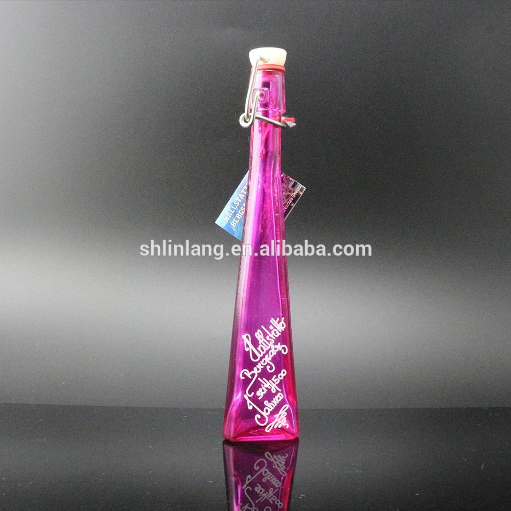 Triangle Glass Flower Vase