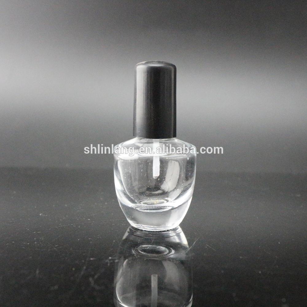 Šanghaj linlang kulatý tvar 15ml Empty Glass UV lak na nehty láhev