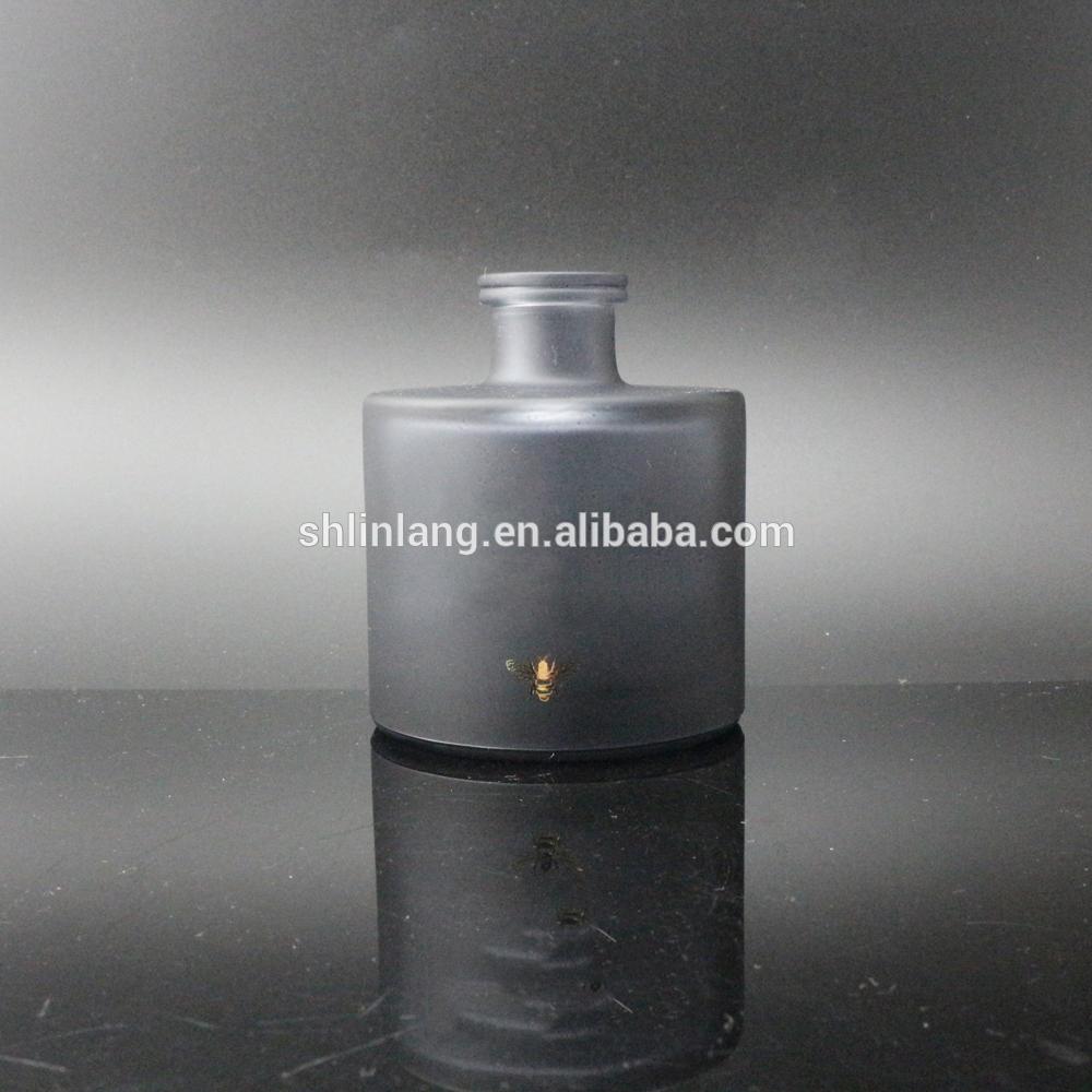 shanghai linlang wholesale black glass fragrance oil reed diffuser bottle