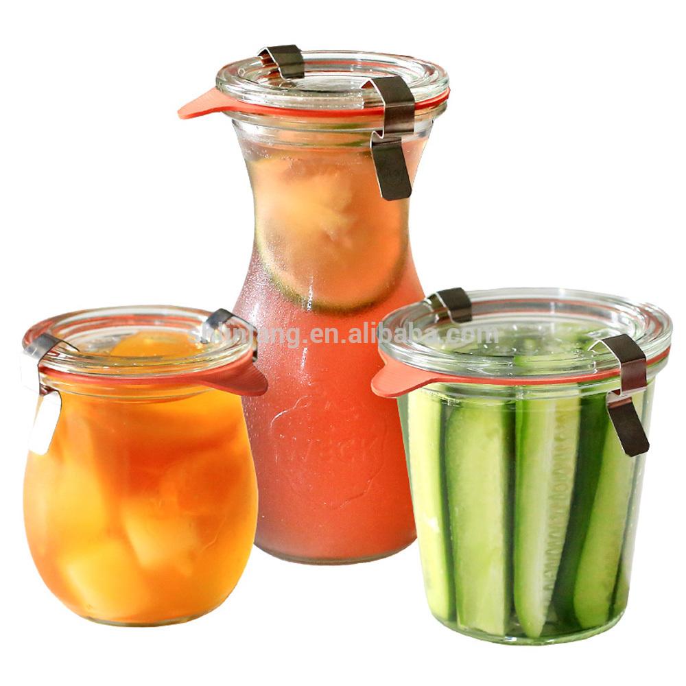Free Kutumiza Food kalasi yosungirako botolo Glass mitsuko mankhwala zaumoyo atsopano mphika