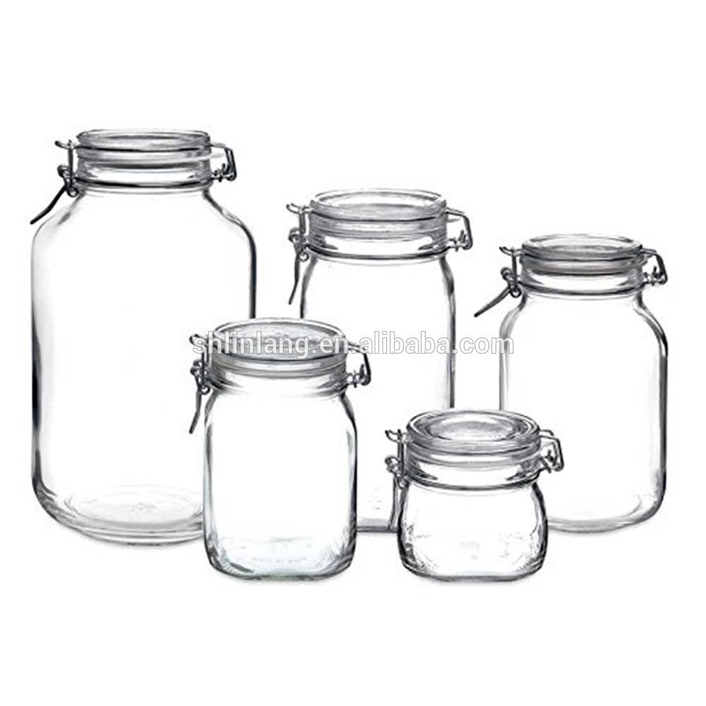 Linlang karstā atzinīgi stikla izstrādājumi stikla uzglabāšanas jar