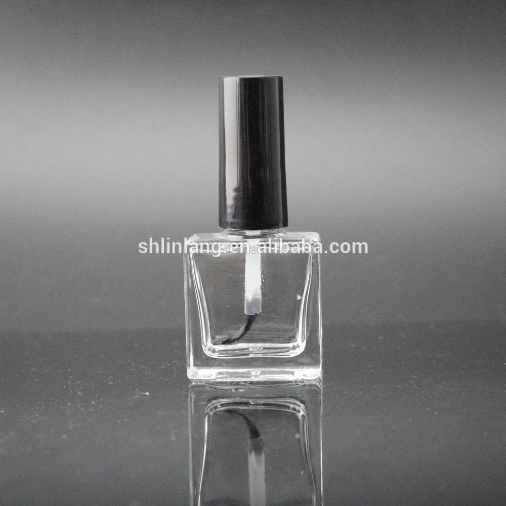 Šanhajas linlang kvadrāta formas tukša stikla nagu lakas pudelītes 9 ml 10ml 11ml 14ml 15ml