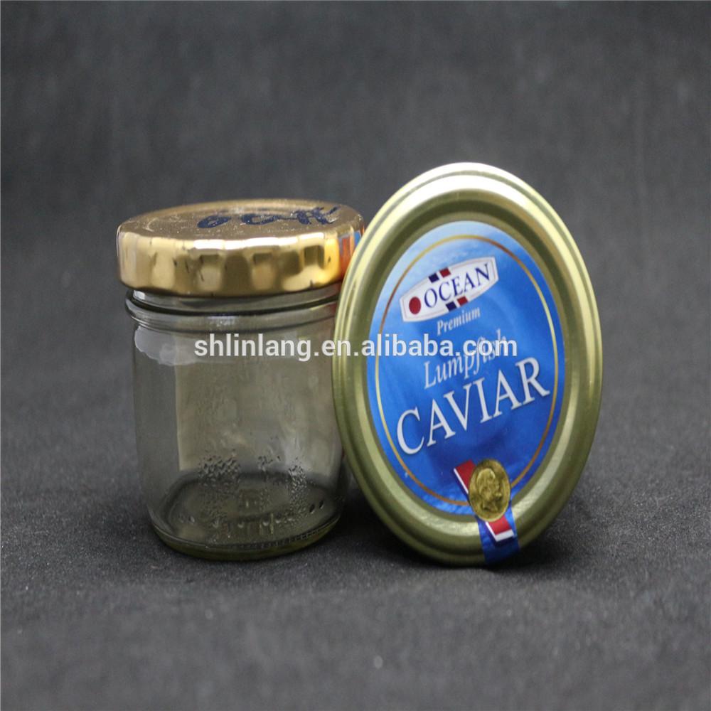 Linlang atzinīgi stikla izstrādājumi Caviar jar