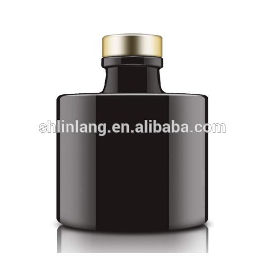 Wholesale matte black reed diffuser glass bottle 100ml 3.4 ounce