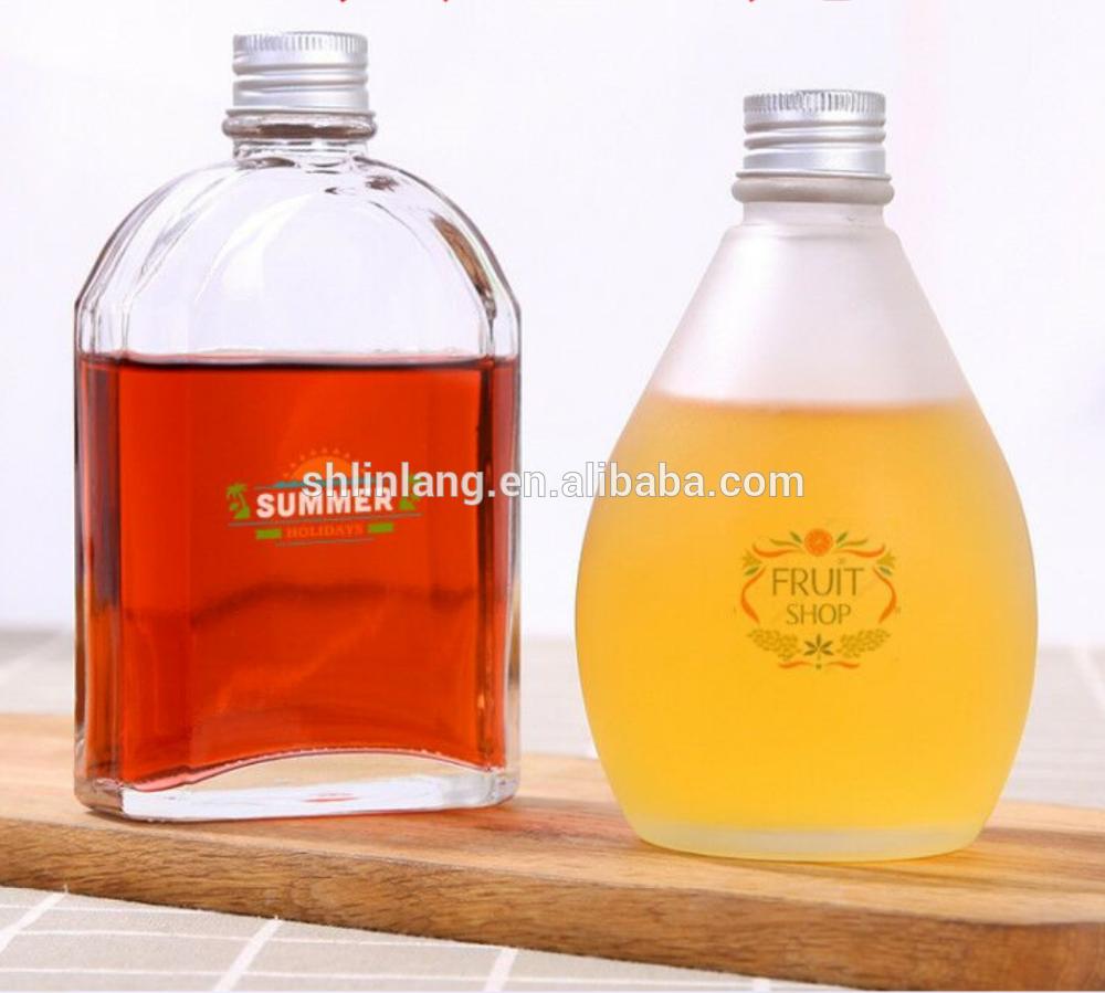 square shape fruit vinegar decorative bottle