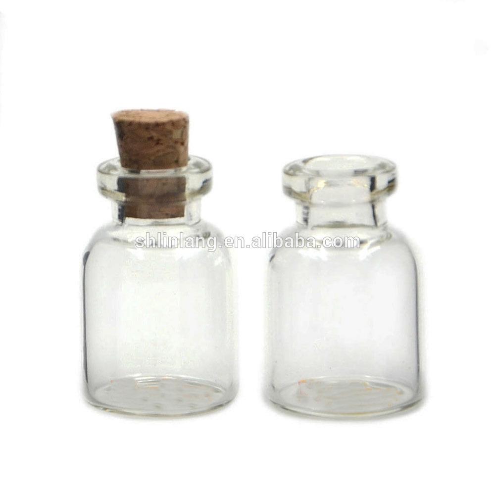 0.5 / 1/2 / 5ml Mini Mazs korķa aizbāzni 10ml stikla flakons Burkas Konteineri Pudele vairumtirdzniecība