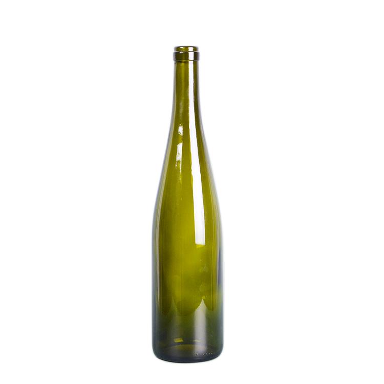 Shanghai Linlang wholesale 750 ml dark green Rhine Hock wine bottle