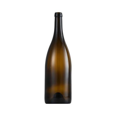 Shang hai linlang wholesale 187ml 750ml 1500ml burgundy red wine bottle dark green empty luxury whisky vodka champagne wine