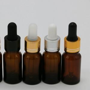 In Stock empty 5ml 10ml 15ml 20ml 30ml 50ml 100ml amber essential oil glass bottle with black plastic spray cap for sale