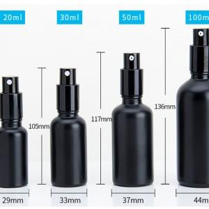 Spray Glass beard oil essential oil perfume bottle black matte