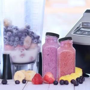 Stock15cc150ml 280ml 350ml 500ml clear milk tea cylinder fruits juice glass bottle with plastic lid