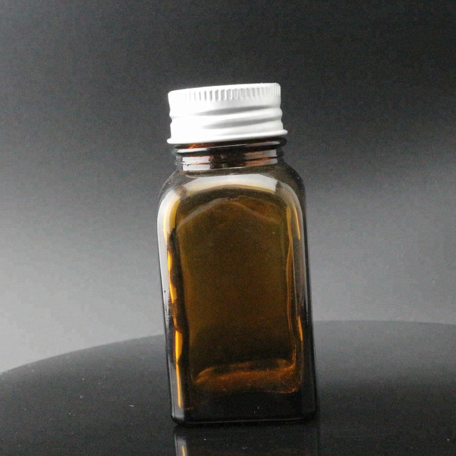 Super Lowest Price Custom Glass Beer Bottle - 1oz 3oz  Amber Glass Blake Bottle with Black silver Cap Rectangular – Linlang