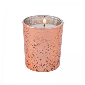 Vairumtirdzniecība Linlang Rose Gold Mercury Glass Candle Holder Par Votives Kāzu noformēšana
