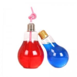 empty transparent 150ml 200ml 250ml 300ml 400ml 800ml glass light bulb bottle for Carbonated