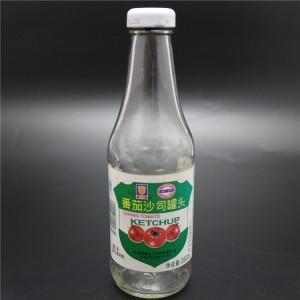 shanghai factory 380ml subway sauce bottle with tinplate cap