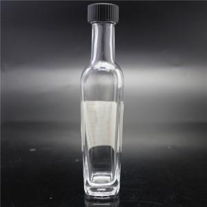 shanghai factory direct sale clear glass hot sauce bottle 58ml